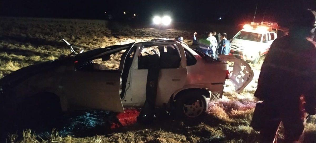 Cuatro mujeres heridas en brutal vuelco en ruta 38