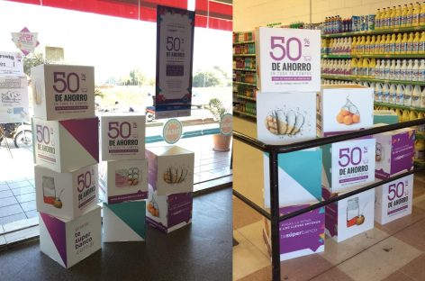 Arrancaron descuentos de Banco Rioja en supermercados y ya es un éxito