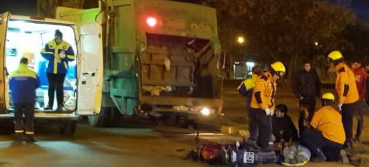 Chocó contra un camión de basura y le costó la vida