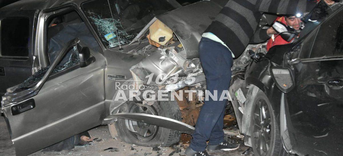 Dos muertos en terrible accidente en el ingreso a Aimogasta