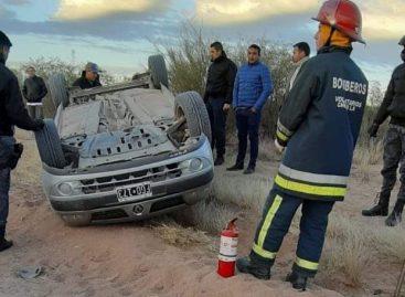 Cinco docentes volcaron en su auto pero resultaron ilesas