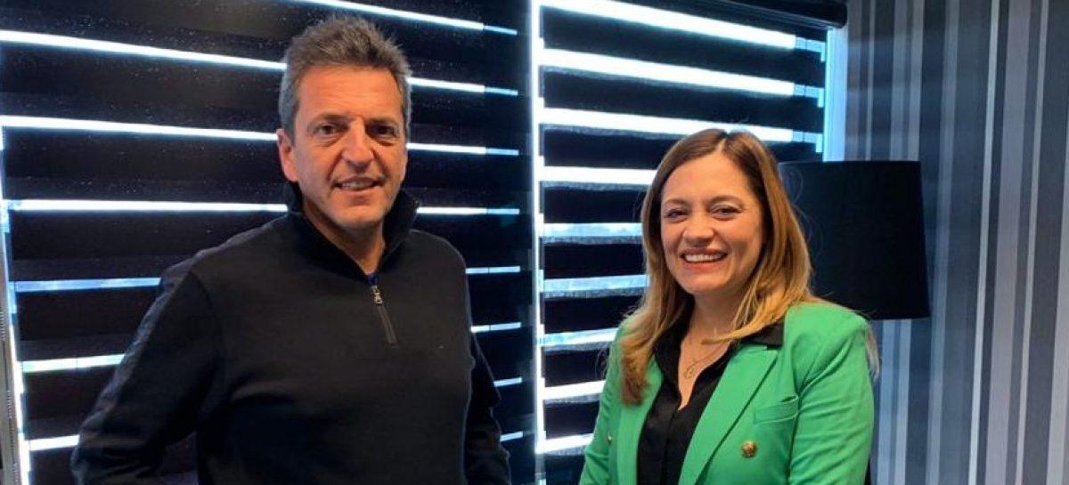 Tere Madera: reunión con Massa y elogios de Paredes