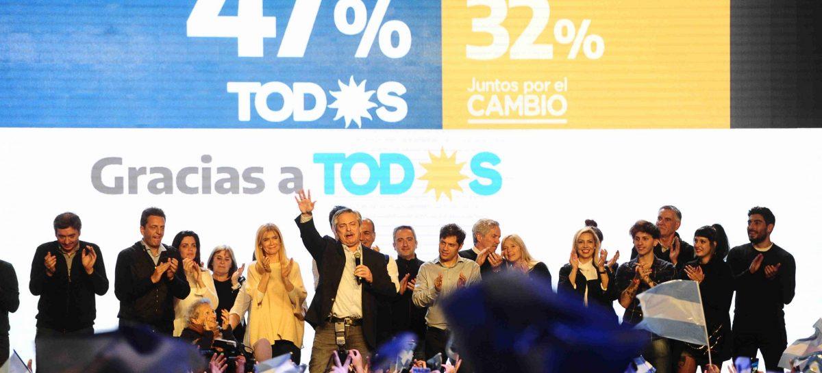 """PASO.  Alberto Fernández ya habla como presidente electo: """"se acabó la grita"""""""
