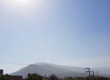 Viento, tierra, baja de la temperatura y alerta meteorológica