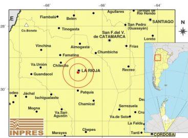 Un sismo sacudió la Capital riojana esta madrugada