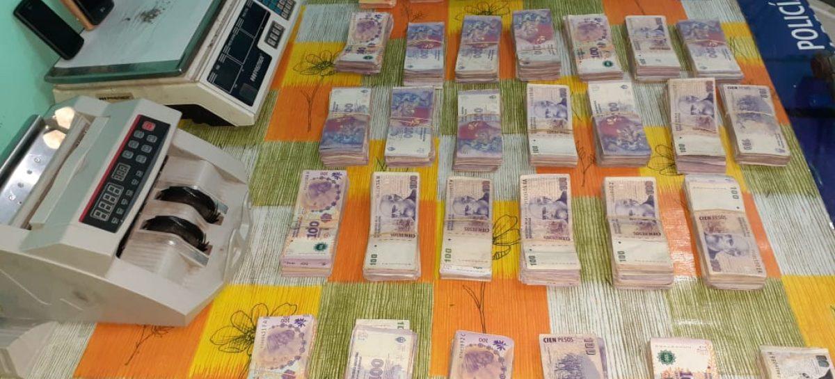 Seis kilos de droga y un millón de pesos incautados en duro golpe a narcos