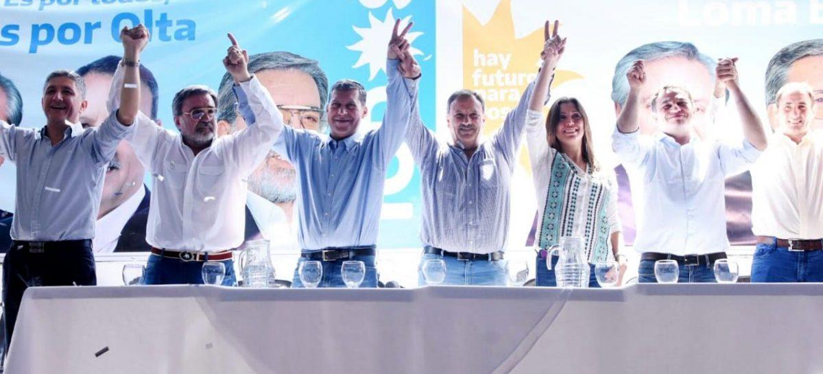 """Quintela en campaña en el interior provincial: """"transmitimos esperanza"""""""