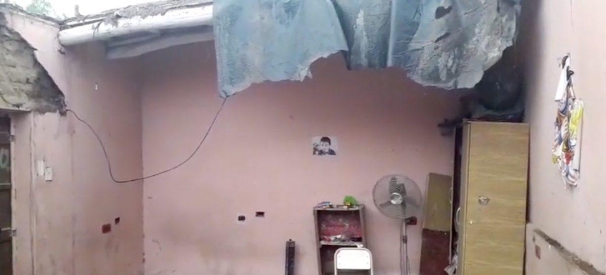 Se derrumbó parte de una humilde vivienda en Chilecito