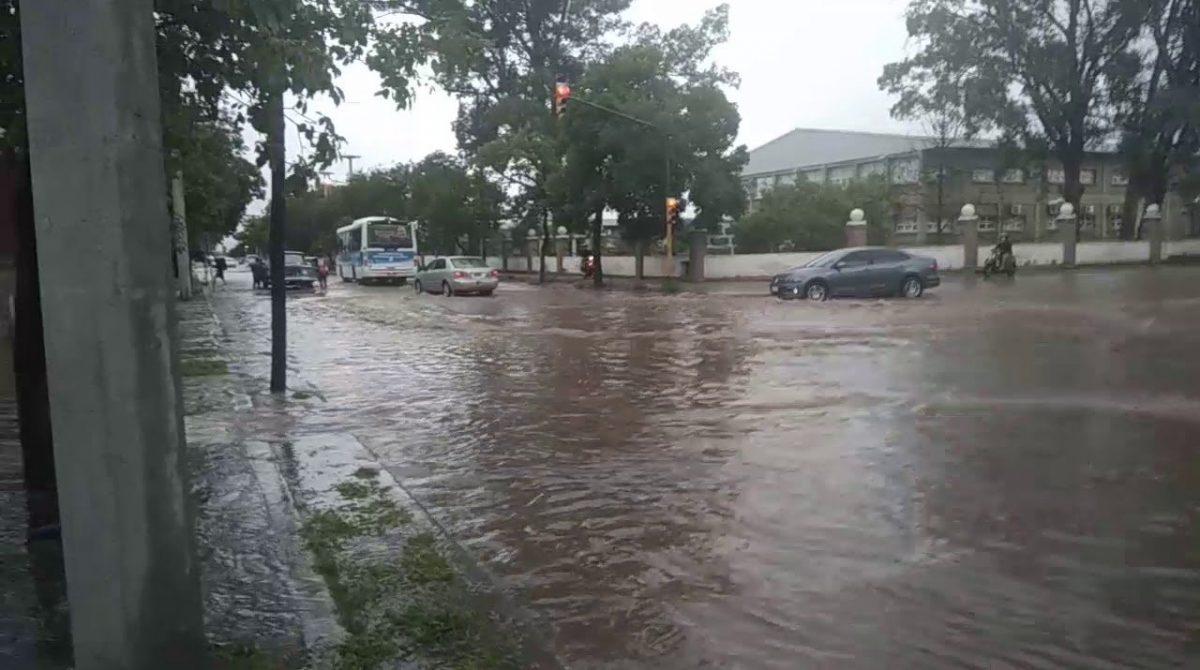 Más de 30 mm de lluvia en 24 horas en la Capital riojana
