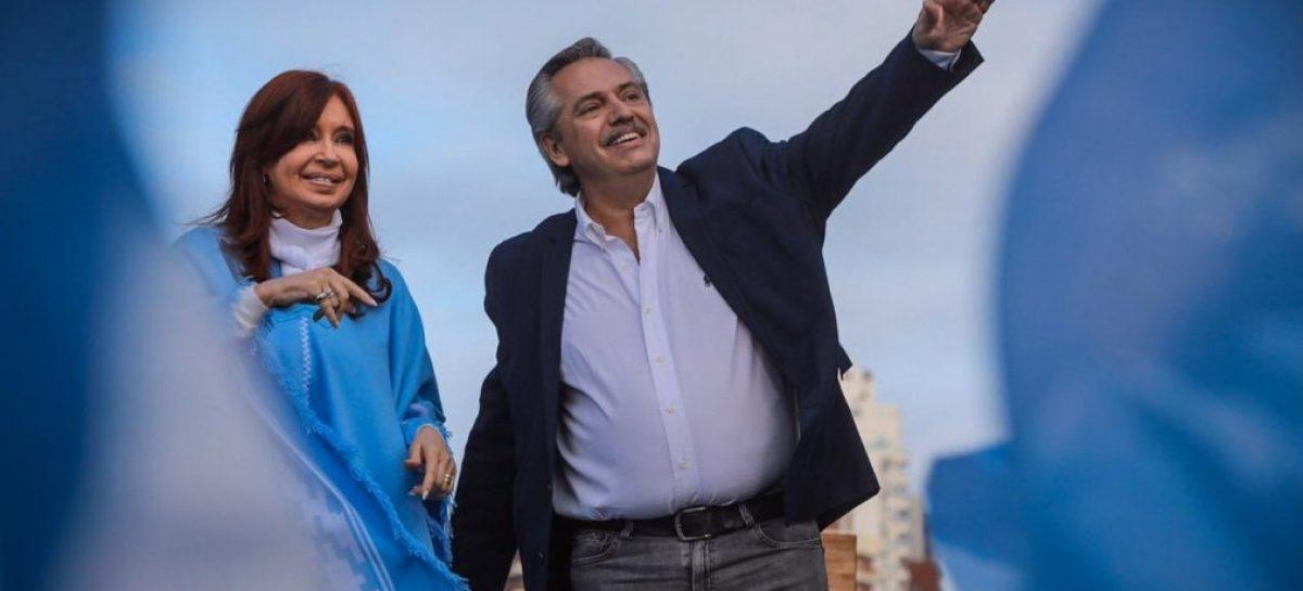 Alberto y CFK cerraron campaña con fuertes señales de unidad