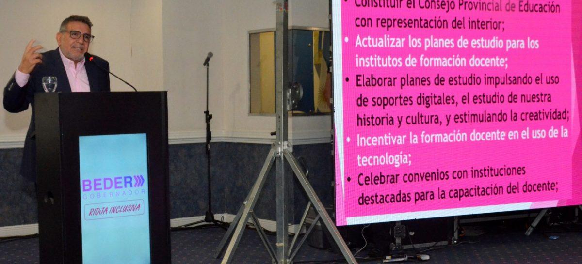 'Rioja inclusiva', el plan de gobierno de Beder Herrera