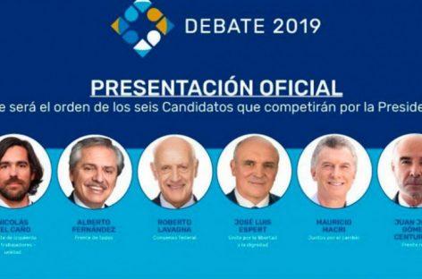 Este domingo, primer debate presidencial: a qué hora y dónde verlo