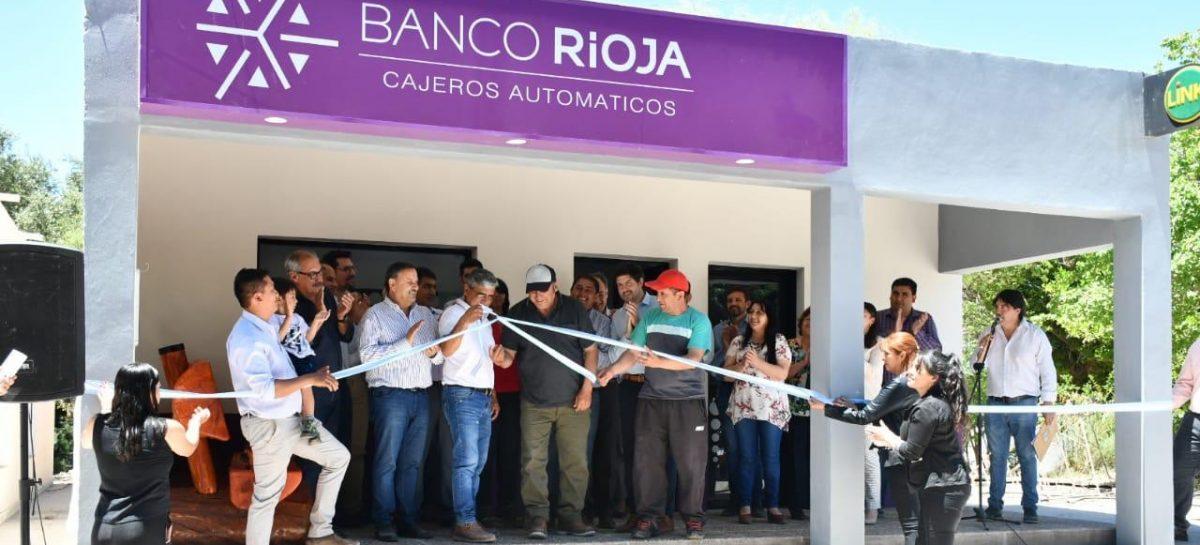 Con Quintela a la cabeza, Banco Rioja inauguró su cajero automático Nº100