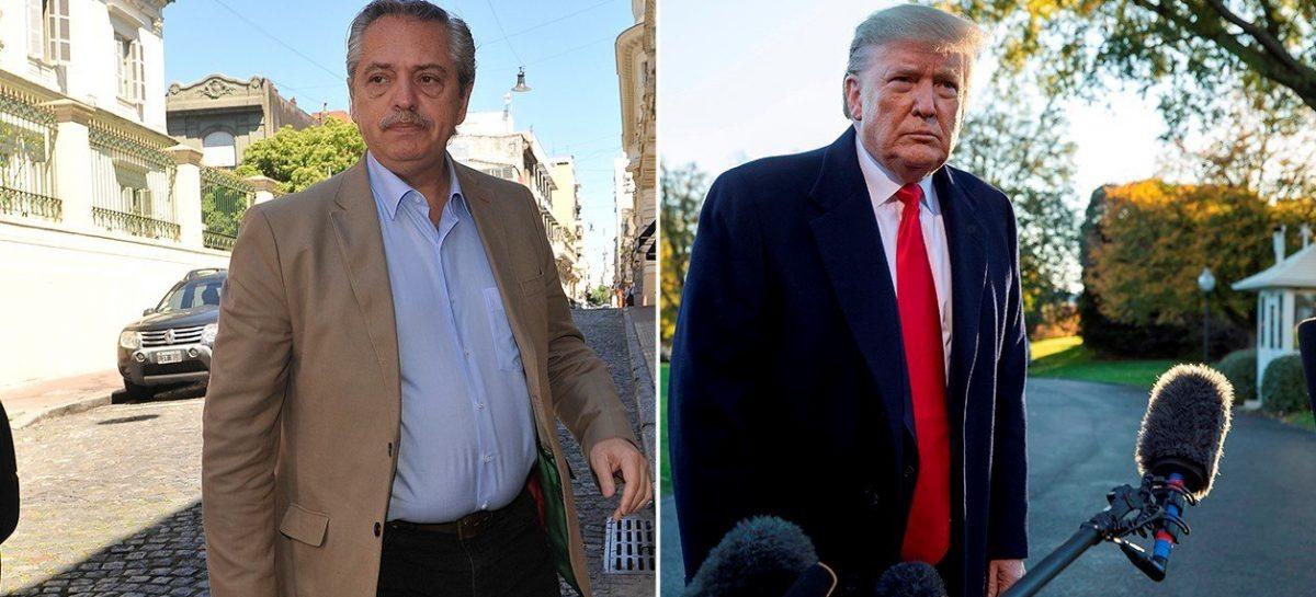 Trump habló con Fernández y le prometió su apoyo