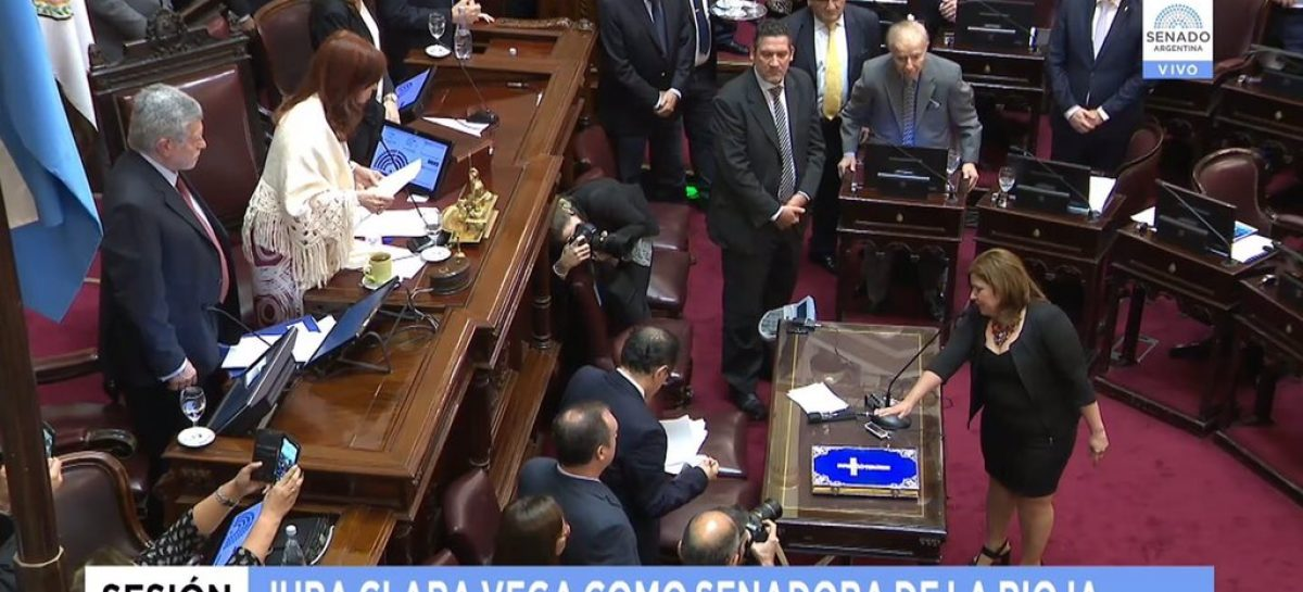 Clara Vega asumió como senadora nacional por La Rioja
