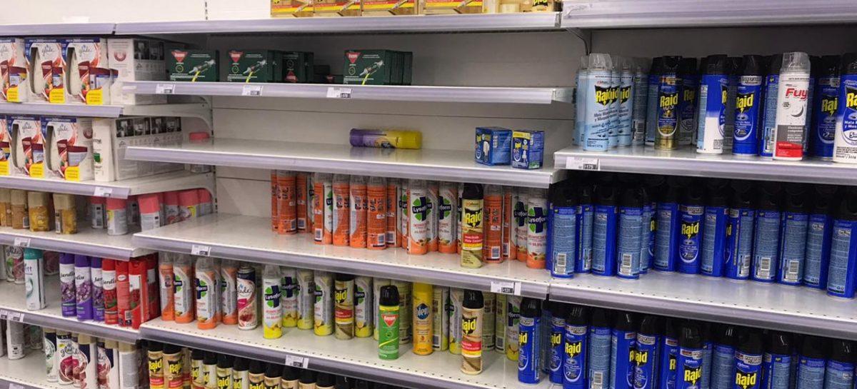 """Coronavirus – Dengue. Ya hay faltantes en supermercados y piden """"prudencia"""""""