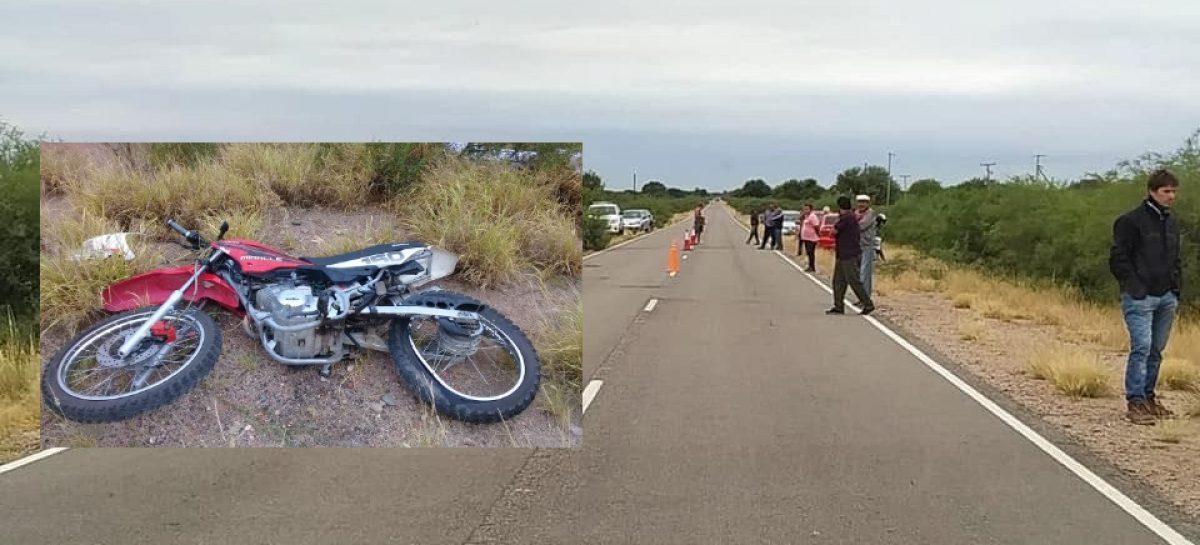 Joven motociclista cayó de su moto y perdió la vida