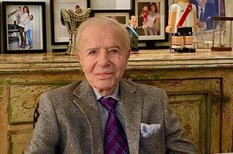 EL EX PRESIDENTE Y ACTUAL SENADOR CARLOS MENEM CUMPLIÓ  90 AÑOS