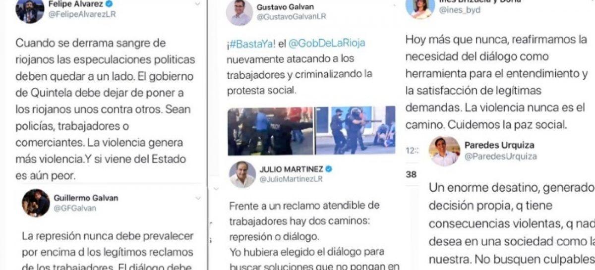 LA OPOSICIÓN RESPONSABILIZÓ AL GOBIERNO Y LO ACUSÓ DE REPRIMIR TRABAJADORES