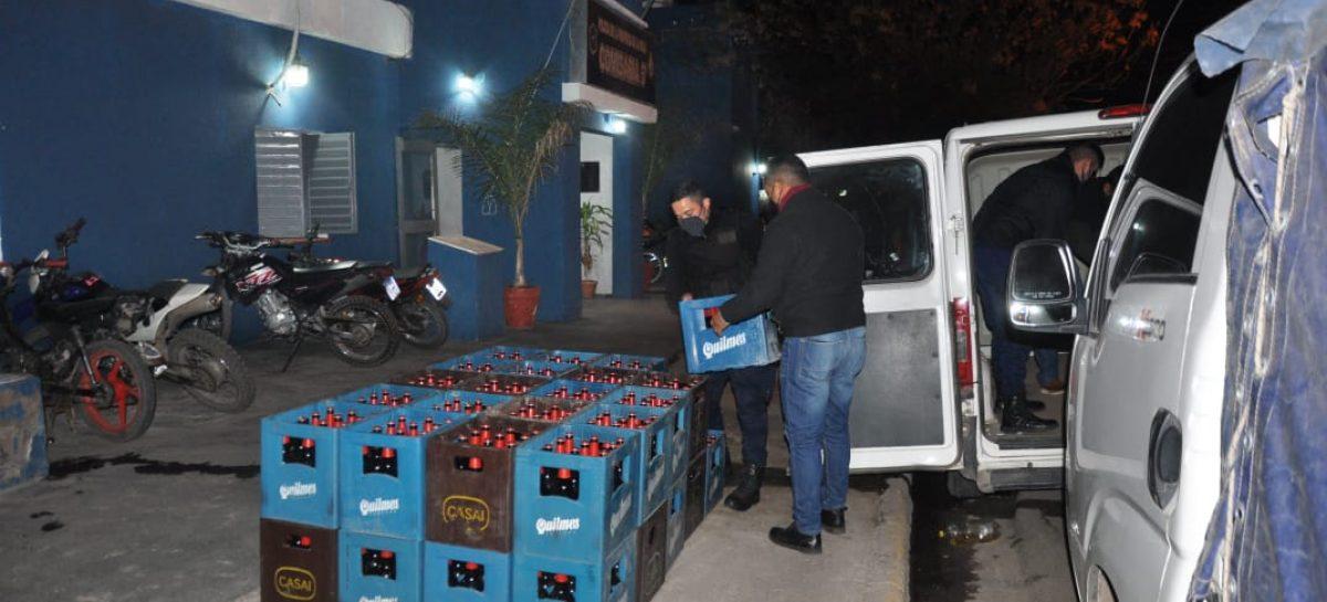 TRANSPORTABA 45 CAJONES DE CERVEZA Y LE INCAUTARON LA BEBIDA