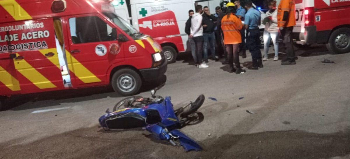 VIOLENTA COLISIÓN ENTRE AUTO Y MOTO DEJÓ UN MUERTO